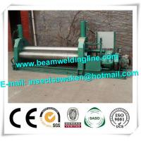 China 3 Roller Hydraulic Symmetrical Plate Rolling Machine For Shipbuilding / Petroleum factory