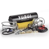 China Dual Steel Onboard Air Systems Compressor For Trucks , 12v Compressor With Tank factory