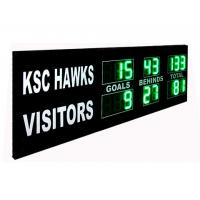China Green Digit AFL Electronic Cricket Scoreboard Portable Football Scoreboard factory