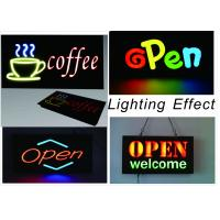 China 23 X 43cm LED Neon Open Sign With Chain With Resin Letter / Retail Storefront Signs on sale