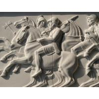 China marble relief, marble panel carved by hand,polished , relief for Europe client factory