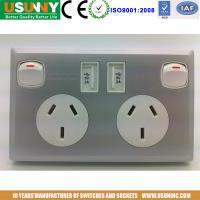 China AU USB  switch wall socket factory