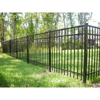 Buy cheap Black Steel Garden Fence Panels , Galvanized Steel Fence 40mm*40mm Rail Size from Wholesalers