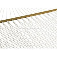 Quality Lightweight Bright White Soft Spun Polyester Rope Hammock W Stand For Family for sale