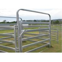 China Heavy Duty Galvanized Cattle Yard Horse Fence Panel Gate Line Post 50MM on sale