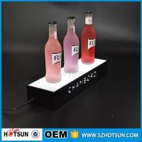 China factory direct sale clear display holder stand, laser cutting thick acrylic customized led base factory