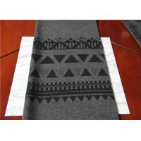 Buy cheap Located 50% Wool Jacquard Scarf  Fabric Gray And Black 150 Cm Width ISO9001 from Wholesalers