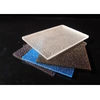 China 3mm Embossed Solid Polycarbonate Sheet / Lichee Partition UV Polycarbonate Panels factory