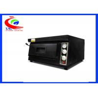 Buy cheap Commercial baking machine electric pizza oven single deck black color from wholesalers