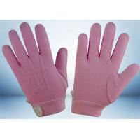 Buy cheap Dyed Colors Cotton Work Gloves Magic Tape On Wrist 145gsm Fabric Weight from Wholesalers