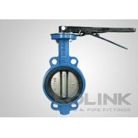Buy cheap Wafer Butterfly Valve Cast Iron Body Resilient Seated Class150 PN16 AS2129 SANS1123 from Wholesalers