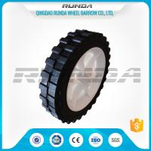 Buy cheap No Bearing Solid Rubber Wheels , Black 8 Inch Hand Truck WheelsDiamond Tread from Wholesalers