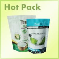 Zip Lock Plastic Stand Up Packaging Bags , Coconut Aluminum Foil Stand Up Pouch