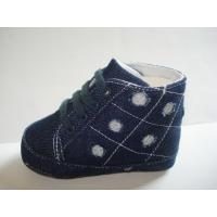 Buy cheap jeans fabric with lace baby shoe NO. 5042 from wholesalers