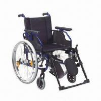 China Wheelchair with Aluminum Chair Frame, OEM Orders are Welcome factory