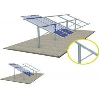 Silver Solar Panel Ground Mounting Systems Support Structure Photovoltaic Stents High Stability