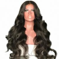 China Full Lace 360 Human Hair Wigs Body Wave Natural Color Brazilian Remy Hair Medium Cap factory