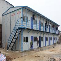 China light steel inexpensive prefab homes with PVC sliding window for workers house factory
