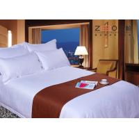 Customized Size Hotel Collection White Comforter Set Soft 330TC