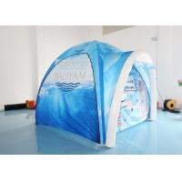 China Blue Airtight Inflatable Spider Tent / Air Arch Dome Tent For Exhibition Trade Show factory