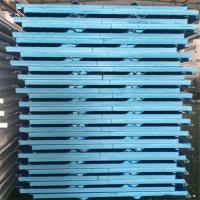 China 50mm painted steel corrugated XPS pu sandwich panels for steel structure roof factory