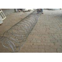 Buy cheap Hot Dipped Galvanized Razor Barbed Wire For Fence , Electric Barbed Wire Fence from wholesalers