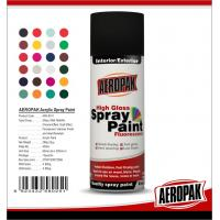 Metal / Wood / Glass Acrylic Spray Paint Flexible With Strong Adhesive