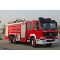 Buy cheap Water And Foam Fire Engine Truck , HOWO 290 Hp Heavy Rescue Fire Truck Water Tank from Wholesalers