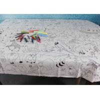 China Double Soft Biodegradable Disposable Paper Tablecloth For Children Drawing factory