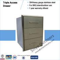 Buy cheap Outdoor kitchen accessories built-in 3 drawer cabinet, made of ss304 from Wholesalers