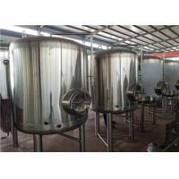 China 3000L Stand type Vertical Bright Beer Tank Using Polyurethane Insulation Material factory