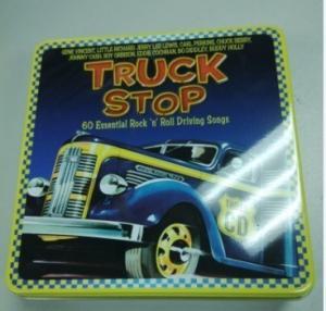China wholesale music cd tin box with hinge factory