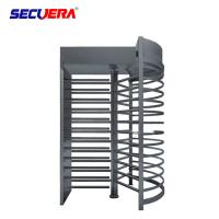 China RFID card integrated motorised 304 stainless steel full height high entry exit turnstile barrier gate factory