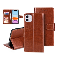 China Luxury Card Insert PU Trifold Leather Flip Cases factory