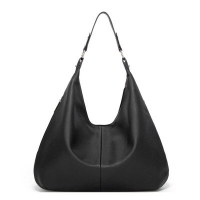 China Black PU leather single shoulder 48cm Luxury Lady Bags, arm bags factory