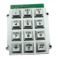 Buy cheap Telephone Stainless Steel Metal Keypad With Flat Surface , 8 Pin Connector from Wholesalers