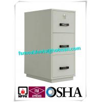 China Steel 3 Drawer Fireproof Safety Cabinet , Fire Resistant File Cabinet For Paper Documents factory