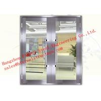 Buy cheap Galvanized Steel Fireproof Glass Fire Rated Double Doors For Shopping Mall from Wholesalers