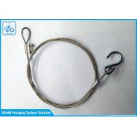 China Sus304 Wire Rope Loop End And Hook Security Cable For Led Ceiling Down Lights factory