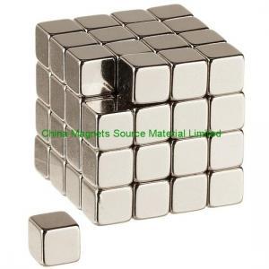 "China 0.125"" (3.175mm) cube N50 ndfeb magnet factory"