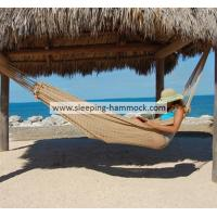 Buy cheap Traditional Travel Queen Size Hand Woven Mayan Hammock Without Stand For Two Person Tan from Wholesalers