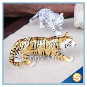Animal Tiger Pewter Trinket Box