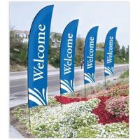 Buy cheap Double Sided Beach Flag Banner Sublimation Printing Aluminum / Fiberglass Poles from Wholesalers