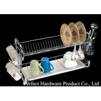 Buy cheap Stainless steel kitchen wire rack 2 layer metal dish rack with cup holder PT-DR003 from Wholesalers