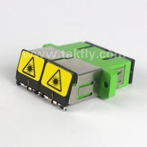 China SC duplex fiber optic adapter with outwards shutter plastics fiber optic coupler on sale