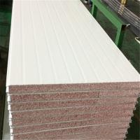 China B1 fire rating 50mm waterproof grey white TPS sandwich panel for camp factory