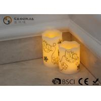 Buy cheap Luxury Carved Craft real Wax led Candles with flower pattern , painting candle from Wholesalers