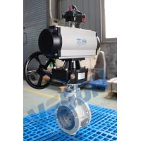 Buy cheap Pneumatic Actuator Operated Butterfly Valve Flanged Type Double Acting / Spring Return from Wholesalers