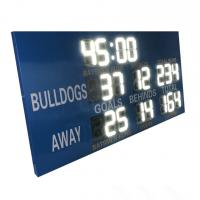 China 12 inch White Digits College Electronic Soccer Scoreboard Led Football Scoreboard factory