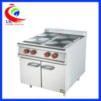China Commercial Stainless Steel Western Kitchen Equipment Electric 4 Hot-plate Cooker With Cabinet factory